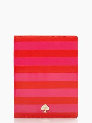 Kate Spade Petula stripe ipad folio