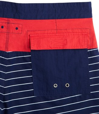 Brooks Brothers Marine Stripe Board Shorts