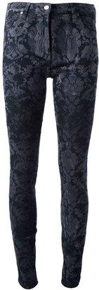 Roberto Cavalli baroque print jeans