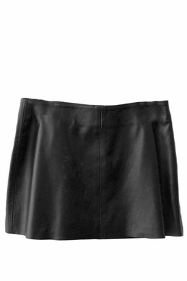 LnA Charming Leather Skirt in Black
