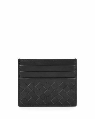 Bottega Veneta Intrecciato Leather Card Case, Black $250 thestylecure.com