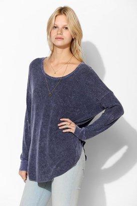 Sparkle & Fade Drop-Shoulder Top