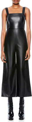 Alice + Olivia Avelina Vegan Leather Wide-Leg Jumpsuit