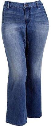 Old Navy Women's Plus Wide-Leg Trouser Jeans