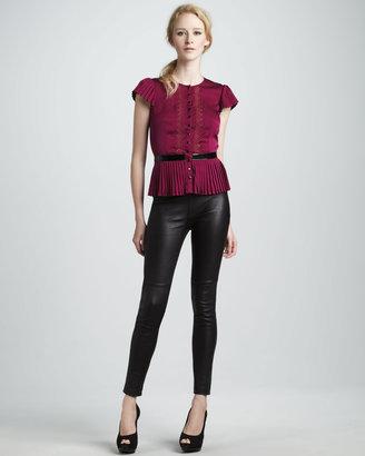 Catherine Malandrino Stretchy Leather Pants