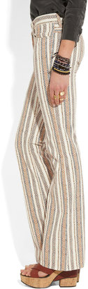 Etoile Isabel Marant Clyde mid-rise printed flared jeans