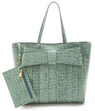 Zac Posen Shirley Bow Croco Shopper