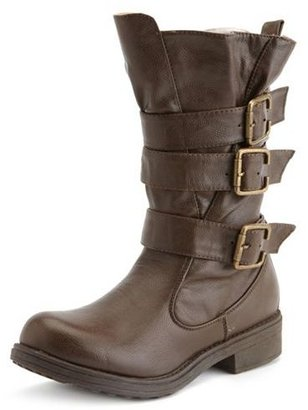 Charlotte Russe Belt-Wrapped Engineer Boot