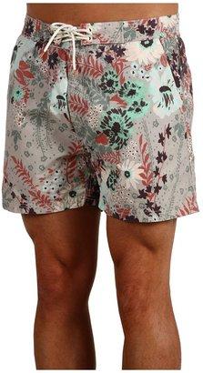 Scotch & Soda Floral Print Swimshort (Maroon/Green) - Apparel