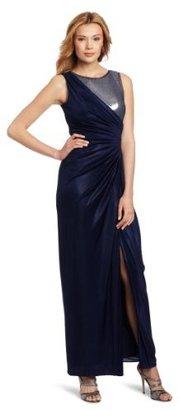 Adrianna Papell Women's Sleeveless Veiled Sequins Gown