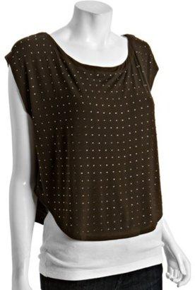Matty M black jersey rhinestone slouched t-shirt
