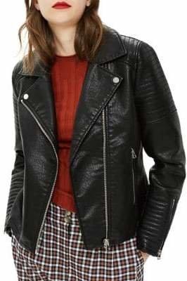 Topshop Rosa Faux Leather Moto Jacket