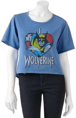 "Wolverine Mighty fine ""i heart hi-low tee - juniors"