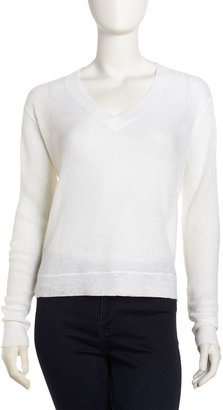 A.L.C. Alza Ribbed Sweater, White