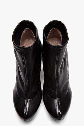 Chloé Black Stretch Leather Ankle Boots