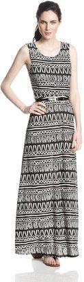 Star Vixen Women's Sleeveless Belted Maxi Dress