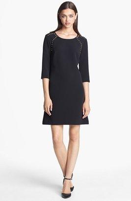 Donna Morgan Studded Crepe Shift Dress (Online Only)