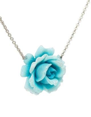 Gogo Philip Blue Rose Necklace