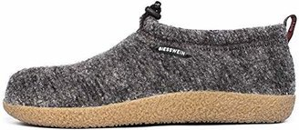 Giesswein Slipper Vent 39 - Closed Felt Slippers, Warm Unisex houseshoe, Tough Anti-Slip Sole, Slippers with Cord for Men & Women, Comfortable Mules incl. Interchangeable Leather Footbed Inlays