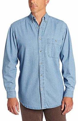 Wrangler Men's Rugged Wear Basic One-Pocket Denim Shirt
