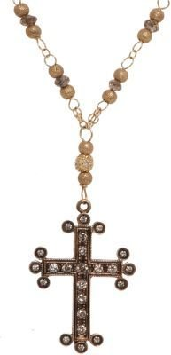 Devon Page McCleary Brown Diamond Cross Necklace
