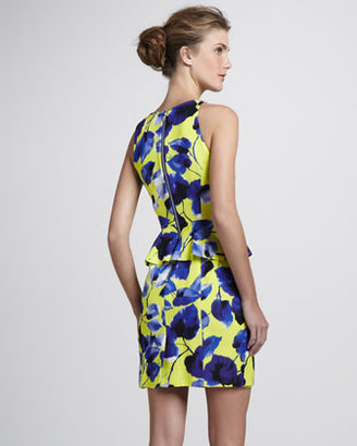 Milly Floral-Print Peplum Dress