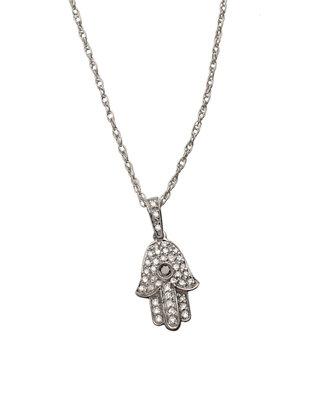 Brian Danielle Hamsa Pendant Necklace