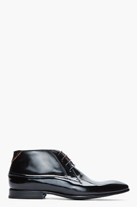 Paul Smith Black patent leather Antick boots