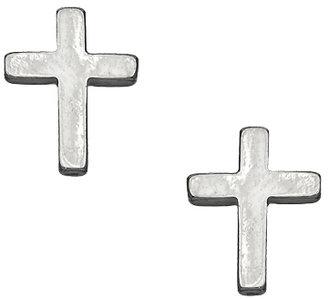 Blu Bijoux Polished Cross Stud Earrings