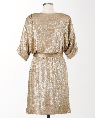 Coldwater Creek Sequin sash dress