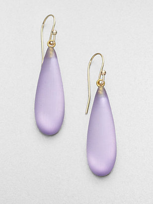 Alexis Bittar Smooth Raindrop Earrings/Lavender