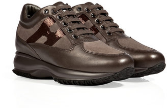 Hogan Leather Interactive Sneakers in Palude