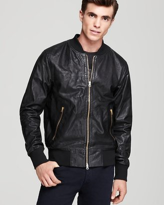 Paul Smith Zip Front Leather Jacket