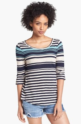 Lucky Brand 'Anabelle' Variegated Stripe Tee