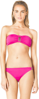 Michael Kors MICHAEL Bandeau Bikini Top & Bottom with Hardware