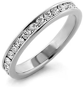 Ariella Collection Cubic Zirconia Eternity Band Ring