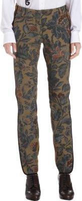 Dries Van Noten Striped Tapestry Canvas Zip-Cuff Pants