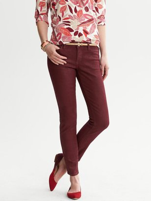 Banana Republic Red Coated Skinny Ankle Jean