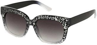 Topshop Laser Etched Sunglasses
