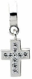 Prerogatives Sterling Swarovski Crystal Cross Dangle Bead $29 thestylecure.com
