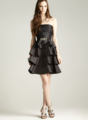 JS Collections Tiered Strapless Dress