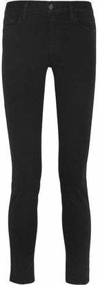 J Brand - 811 Photo Ready Mid-rise Skinny Jeans - Black $185 thestylecure.com