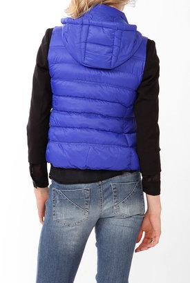 Forever 21 Hooded Puffer Vest