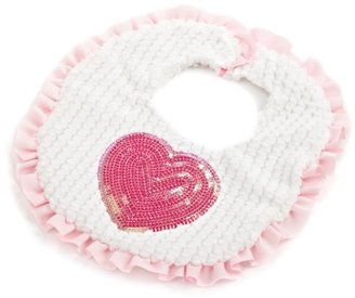 Mud Pie Baby-girls Newborn Heart Bib