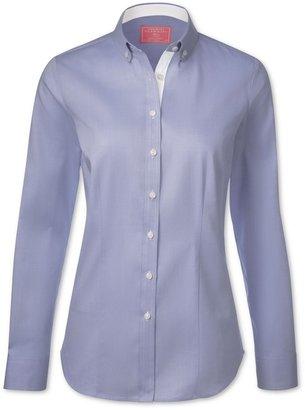 Charles Tyrwhitt Blue Oxford semi-fitted shirt