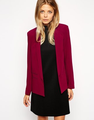 Asos Blazer In Crepe with Lapel Detail