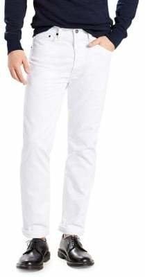 Levi's 501 Regular-Fit Jeans White Crispy