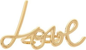 Lanvin Brass Stephanie Double Ring