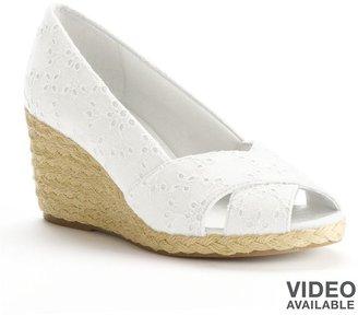 Chaps dakoda espadrille wedge heels - women