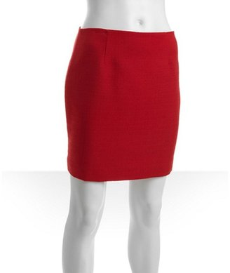 Tahari firetruck tweed cotton blend 'Alexis' mini skirt
